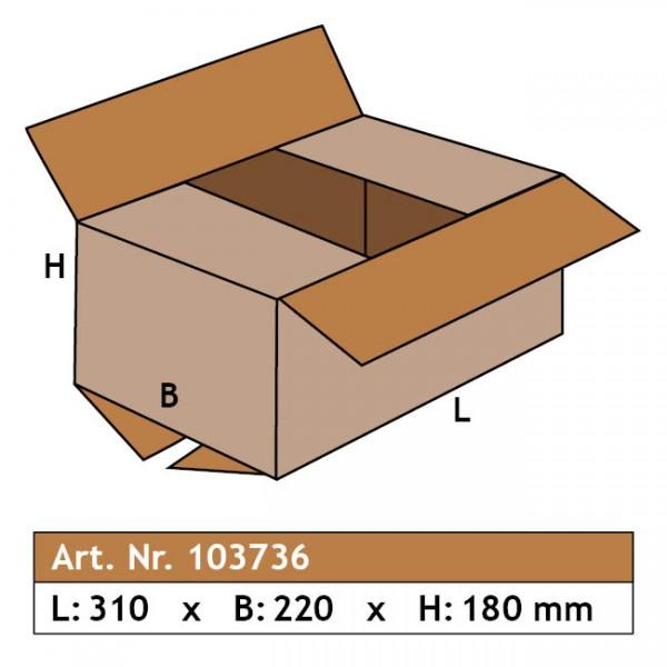 Karton 310 x 220 x 180, 1-wellig